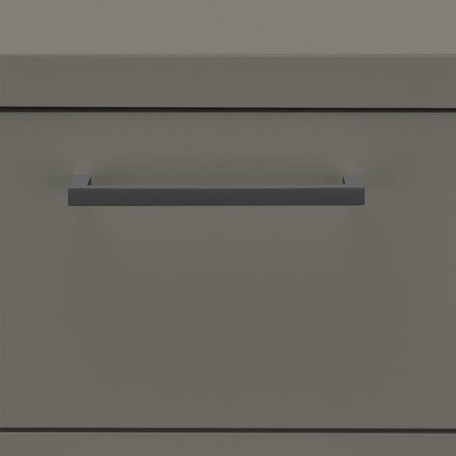 OPTIMA Rollcontainer   3 Schubladen + 1 Kleinteilefach, 600 mm tief, Cubanitgrau