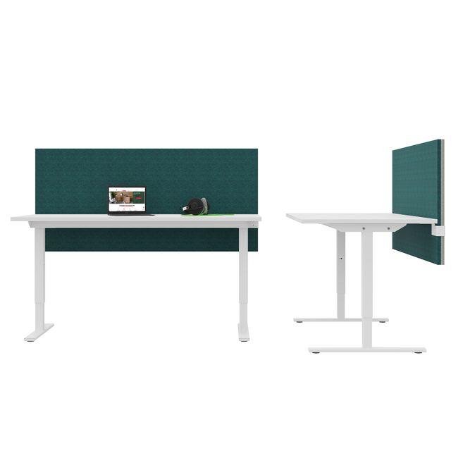 ONE H Schreibtisch | Manuell höhenverstellbar, 1400 x 800 mm, Perlgrau