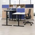 ONE H Schreibtisch   Manuell höhenverstellbar, 1400 x 800 mm, Anthrazit