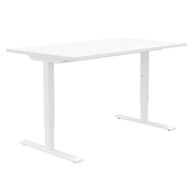 ONE H Schreibtisch | Manuell höhenverstellbar, 1600 x 800 mm, Weiß