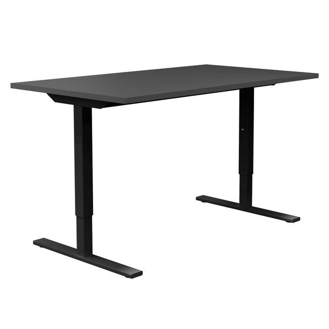 ONE H Schreibtisch | Manuell höhenverstellbar, 1600 x 800 mm, Anthrazit