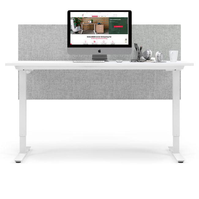 ONE H Schreibtisch | Manuell höhenverstellbar, 1600 x 800 mm, Cubanitgrau