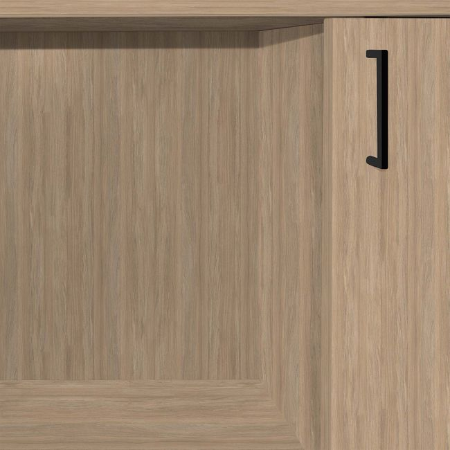 NOVA Schiebetürenschrank | 3 OH, 1640 x 1085 mm, Bernsteineiche