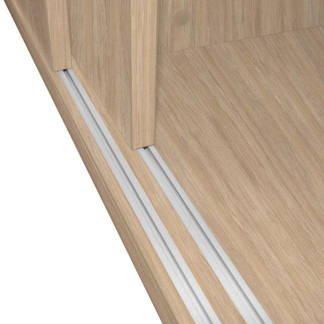 UNI Schiebetürenschrank | 2 OH, 1000 x 777 mm, Bernsteineiche