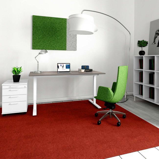 ONE H Schreibtisch   Manuell höhenverstellbar, 1600 x 700 mm, Nordeiche grau