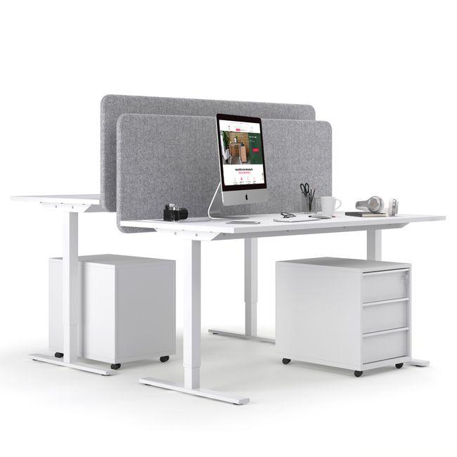 ONE H Schreibtisch | Manuell höhenverstellbar, 1600 x 700 mm, Anthrazit