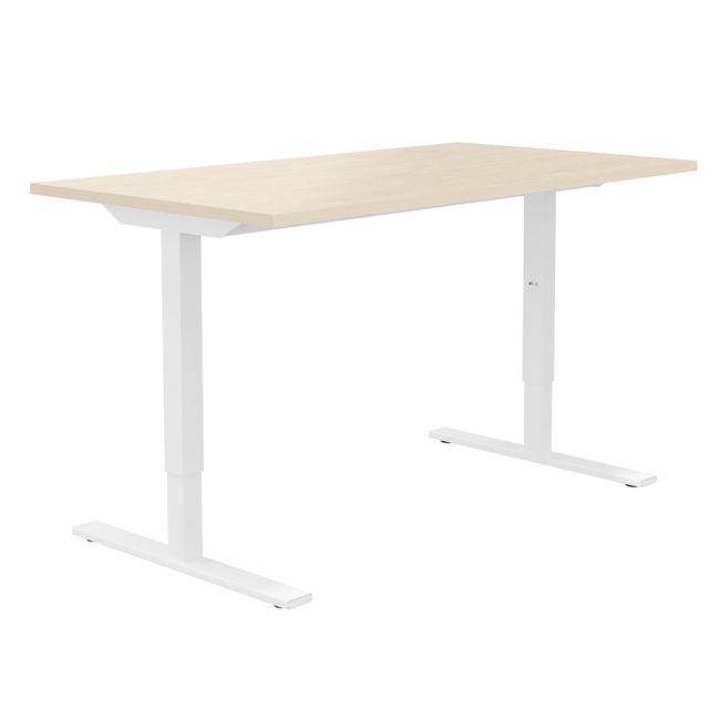 ONE H Schreibtisch | Manuell höhenverstellbar, 1600 x 700 mm, Ahorn