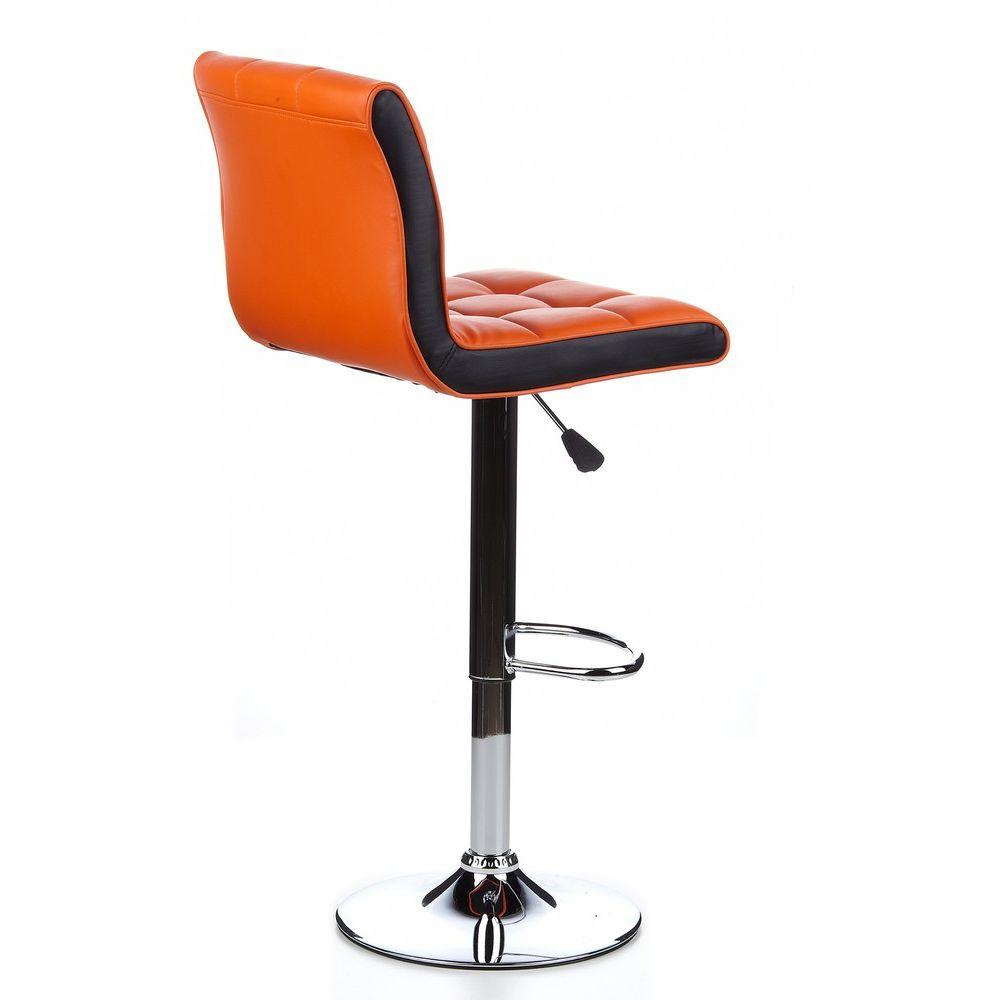Barhocker / Tresenhocker TERNI DUO orange/schwarz (2er Pack / 2 Hocker)